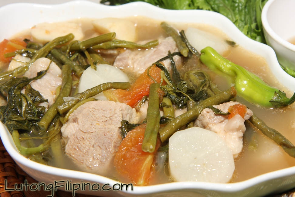 Pork Sinigang Recipe Filipino Recipes From Lutong Filipino