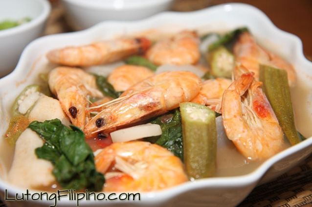 Sinigang na Hipon Recipe - Filipino Recipes from Lutong Filipino